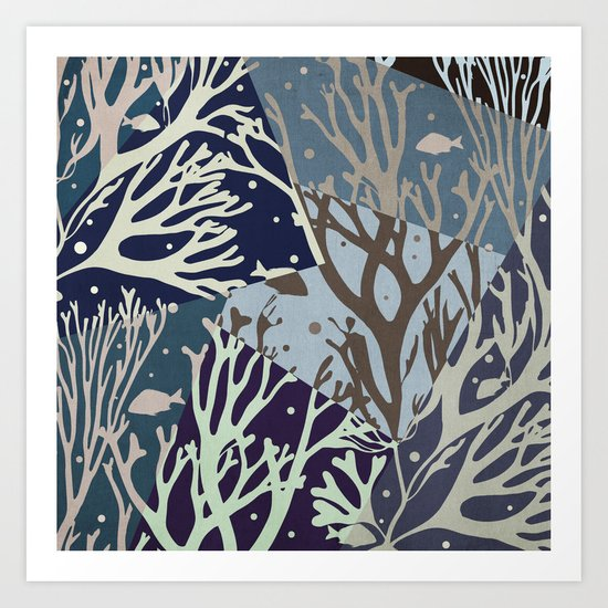 Under the Sea - Abstract Art Print