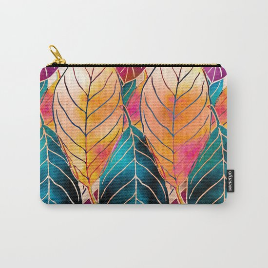 Colorful Leaves Pattern Carry-All Pouch