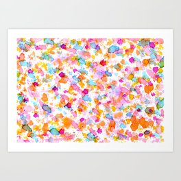 Birthday Party Confetti - Drops of Colorful Ink Art Print