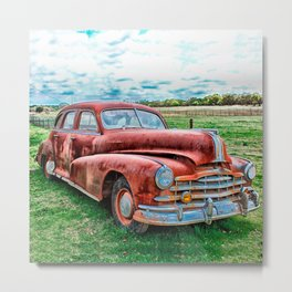 Oldsters Classic Car Vintage Automobile Old Rusty Metal Print
