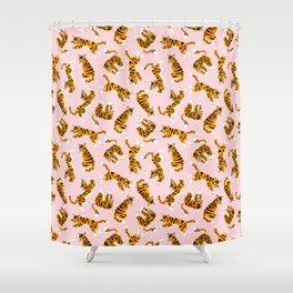 Tiger Print Shower Curtains