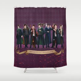 Infinite goes to Hogwarts Shower Curtain