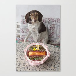 Fiona And Her Cake Canvas Print