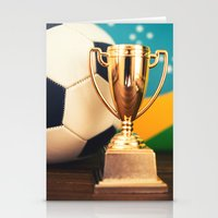 world cup Stationery Cards featuring world cup trophy by franckreporter