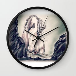 FATHER HORSE Wall Clock