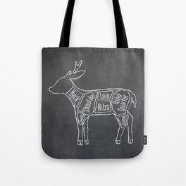 Venison Butcher Diagram (Deer Meat Chart) Tote Bag