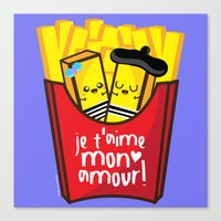 french fries Canvas Prints featuring French Fries by Kleviee