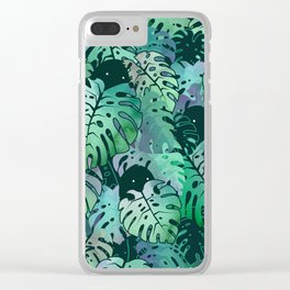 Monstera Monsters Clear iPhone Case