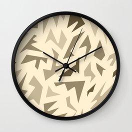SEPIA JIG JAG Wall Clock