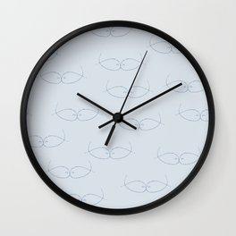 Seeing Kissing Fish Blue Dusty Blue Wall Clock