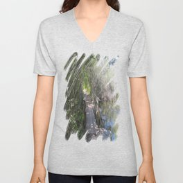 What's on the Other Side? Unisex V-Neck