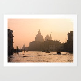 Sunrise on the Grand Canal, Venice, Italy Art Print