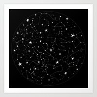 constellations Art Prints featuring Constellations by Rachel Buske
