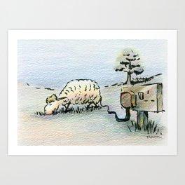 Electric Sheep Art Print