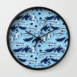 Marine Life Pattern Wall Clock
