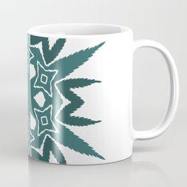Cannabis Leaf Star Wreath (Green) Coffee Mug