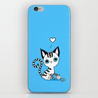 kitten iPhone & iPod Skins featuring Kitten by Freeminds