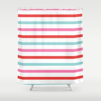 stripe Shower Curtains featuring Stripe by Andrew Jonathan Baker