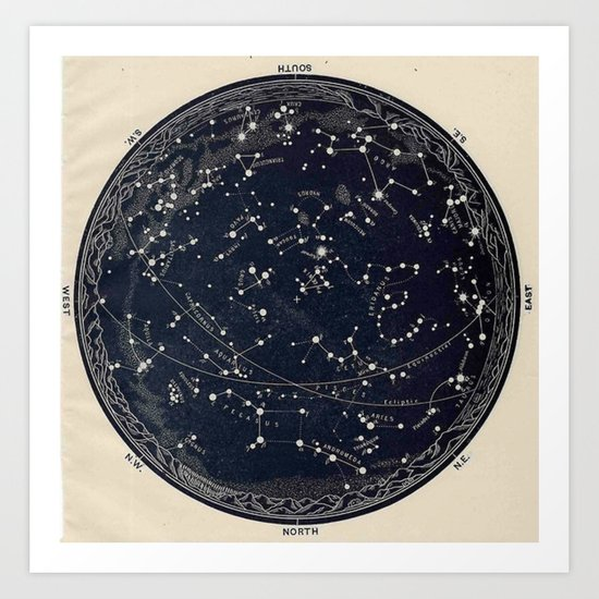 Constellation Chart by bluespecsstudio