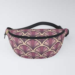 Vintage Art Deco Seashell - Red red wine Fanny Pack
