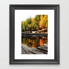 Fall Reflections Framed Art Print
