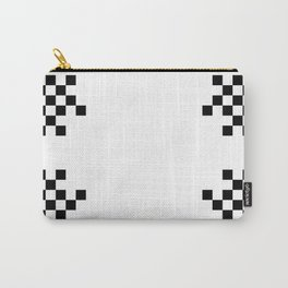 Pixels on White Carry-All Pouch