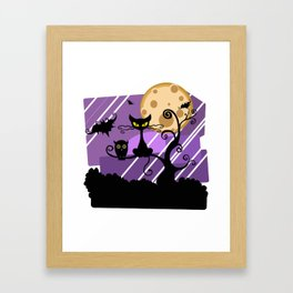 Halloween Night Framed Art Print