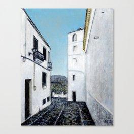 Torre del Reloj, Zahara, Spain Canvas Print