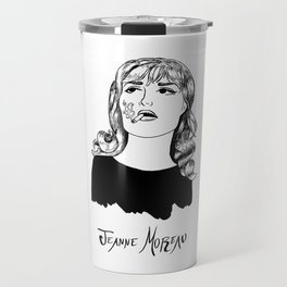 Jeanne Moreau Portrait Travel Mug