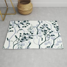 twigs with berries Rug