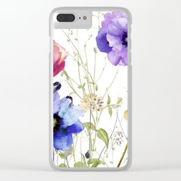 Summer Diary II Clear iPhone Case