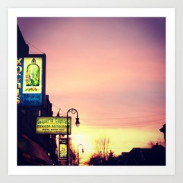 Detroit: Mexican town sunset Art Print