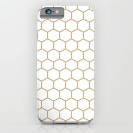 Honeycomb (Tan & White Pattern) iPhone Case