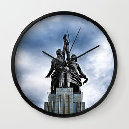 Worker and Kolkhoz Woman (Moscow 2013) Wall Clock