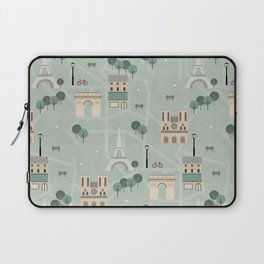 Paris Map Print Illustration Laptop Sleeve