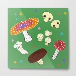 Magic Mushroom Print Metal Print
