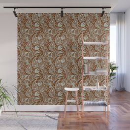 Persian Mango Pattern. Paisley #3, brown Wall Mural