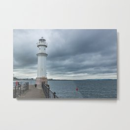 Light Tower in Edingburgh Metal Print