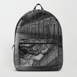 New Orleans, French Quarter, Jackson Square black and white photograph / black and white photography Backpack