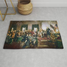 Signing of the United States Constitution 1787 Rug