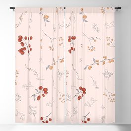 Ditsy Berries Blackout Curtain