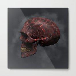 Organic Skull 02 Metal Print