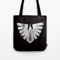 warhammer Tote Bags featuring Ravens on the horizon by HenkusFilijokus