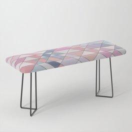Triangle Pattern no.25 Light Pink Bench