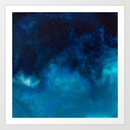 Drift Water Ocean Art Piece Print Art Print