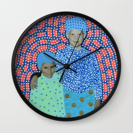 Blue Minty Friendship Wall Clock