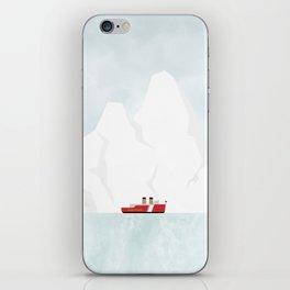A Ship & An Iceberg iPhone Skin