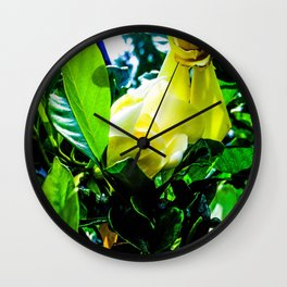 Gardenia in Bloom Wall Clock