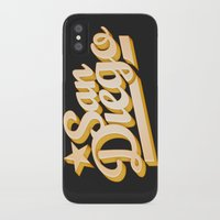 san diego iPhone & iPod Cases featuring San Diego by GetSolidGold