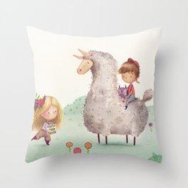 Garden Party Throw Pillow